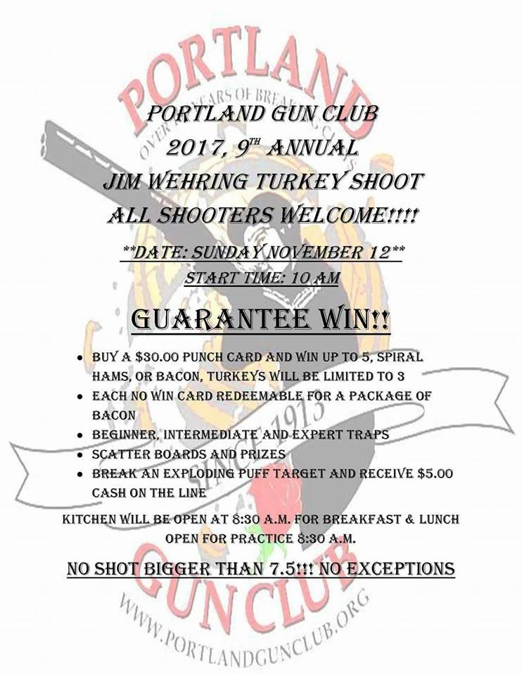 9th Annual Jim Wehring Turkey Shoot